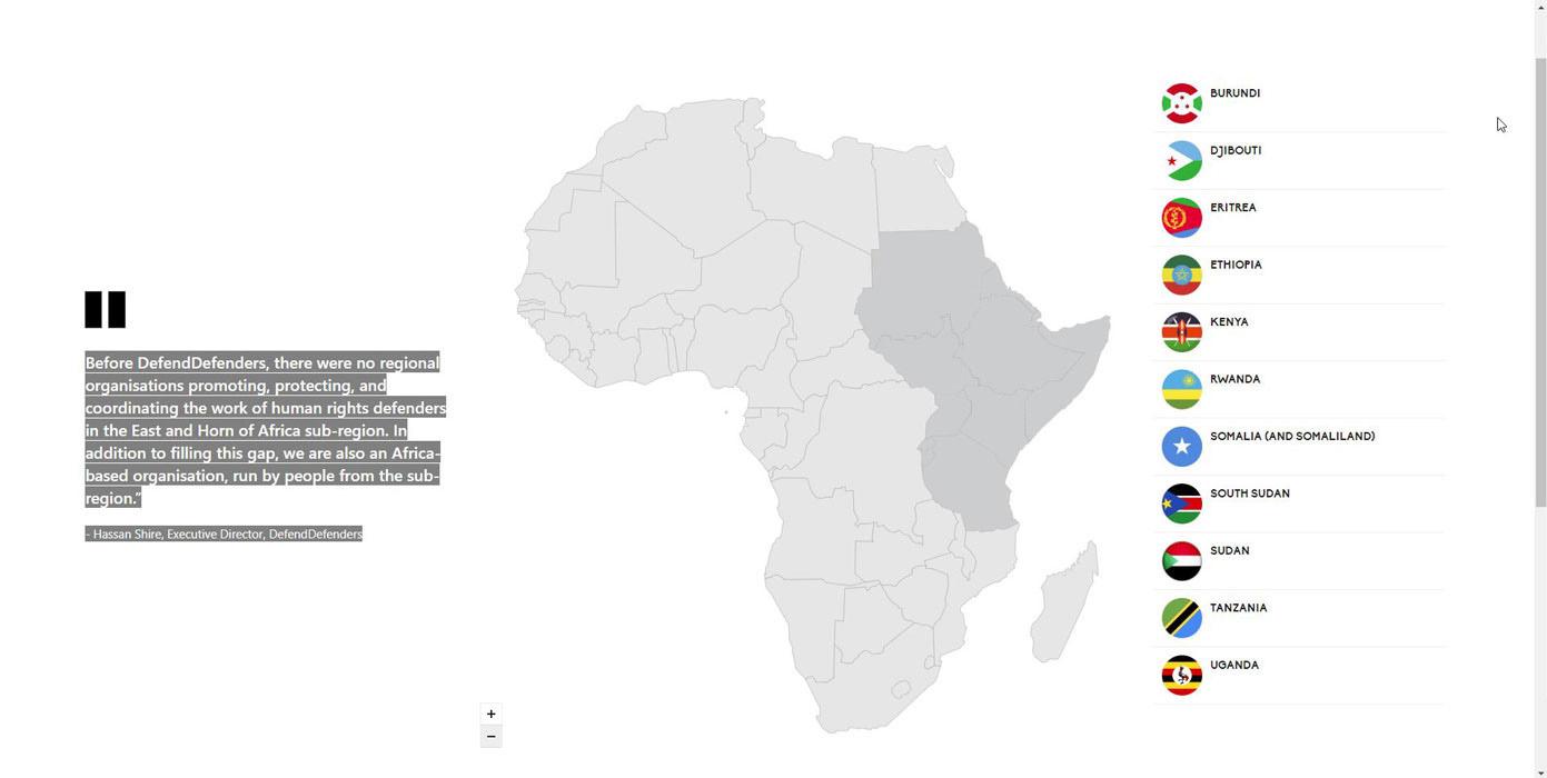 Мапа региона са државама чланицама