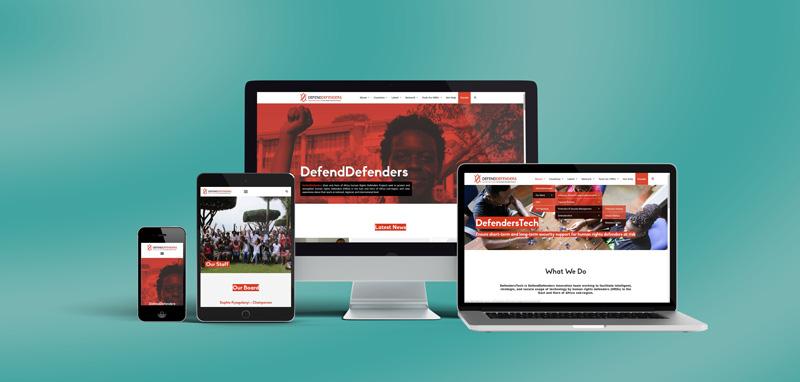DefendDefenders веб-сајт на више уређаја
