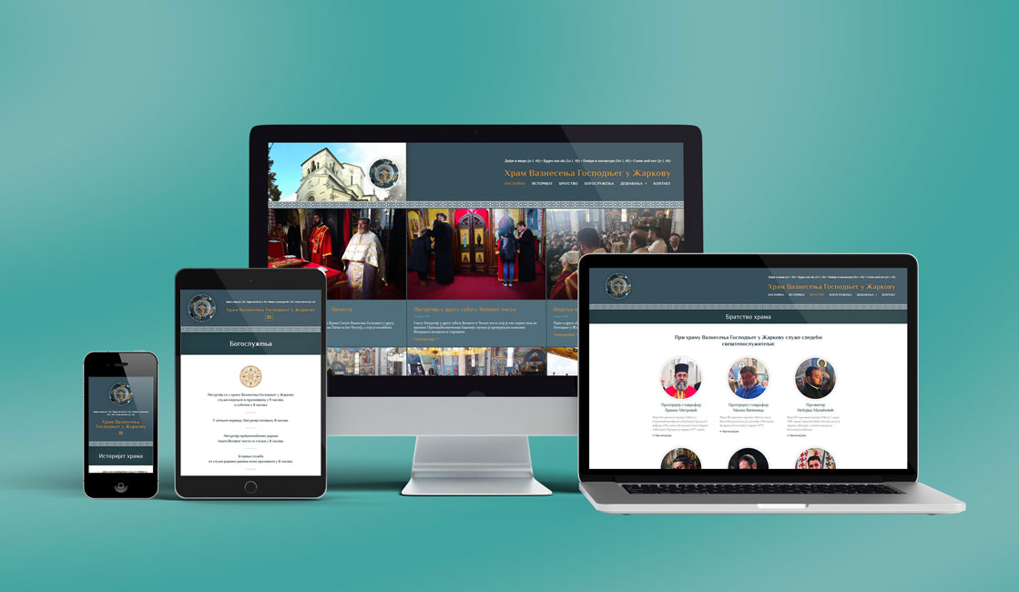 Ascension Temple Website - View on multiple devices